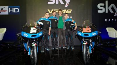 Presentato lo Sky Racing Team VR46