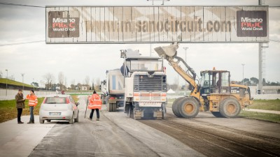 Work begins on new track surface at Misano