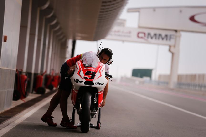 Danilo Petrucci´s Ducati, Pramac Racing, MotoGP Qatar Test