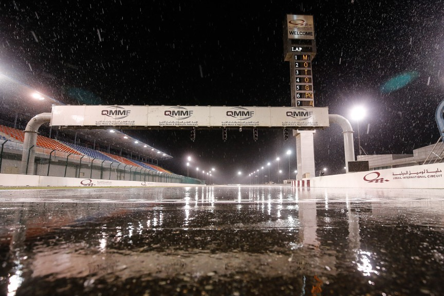 Rainy Test in Qatar