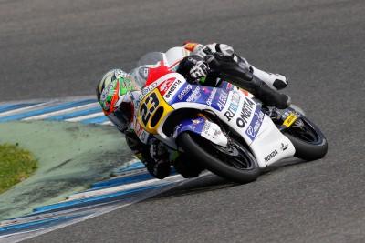 Antonelli, el más rápido de la mañana en el test de Moto3™