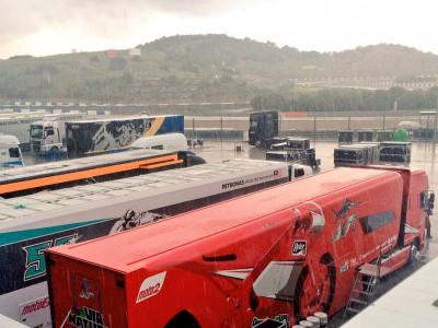 La lluvia llega al Circuito de Jerez