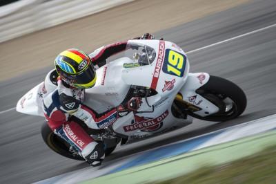 Simeon veloce sul bagnato negli ultimi test della Moto2