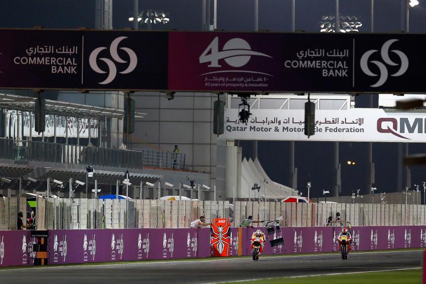 Dani Pedrosa, Alvaro Bautista, Aprilia Racing Team Gresini, Repsol Honda Team, MotoGP Qatar FP1
