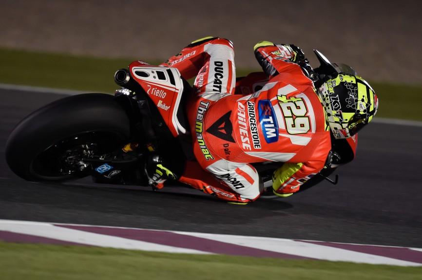 Andrea Iannone, Ducati Team, MotoGP Qatar FP1