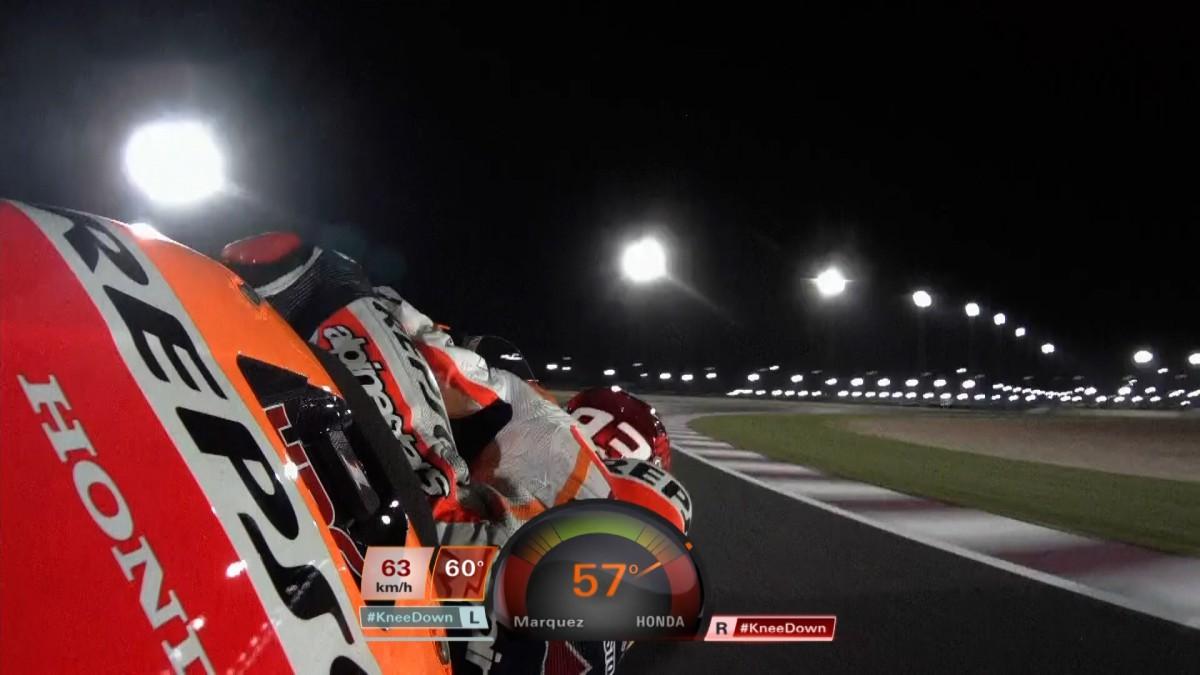 New MotoGP™ #KneeDown indicator in action