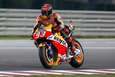 Marquez sets blistering pace in FP2