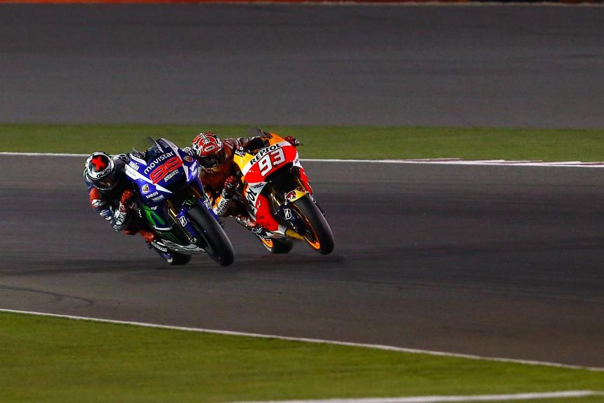 Marc Marquez, Jorge Lorenzo, Repsol Honda Team, Movistar Yamaha MotoGP, Qatar Q2