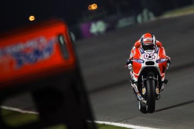 """Dovizioso: """"Mit dem Motorrad noch kein Rennen gefahren'"""