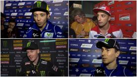 The fastest MotoGP™ riders of the day give us feedback on their qualifying results in Qatar.