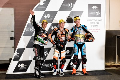 Lowes celebrates first Moto2™ pole despite crash