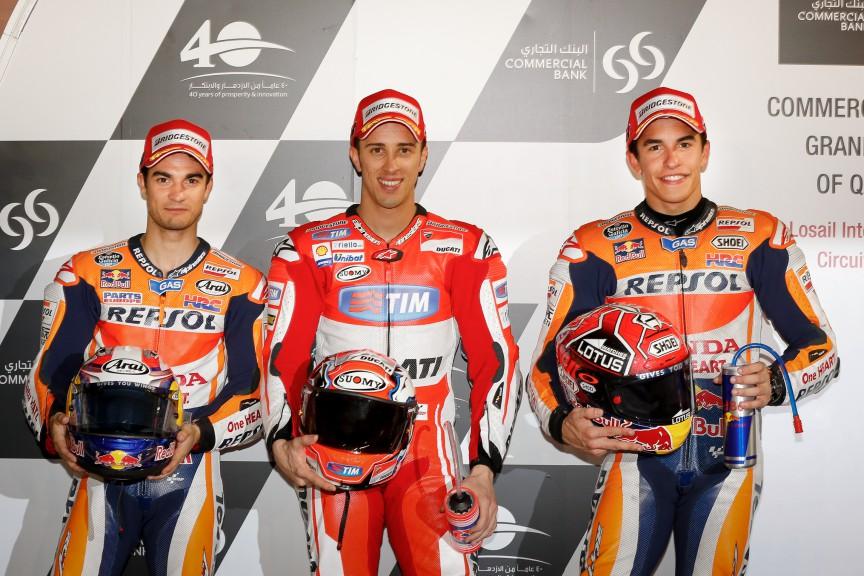 Pedrosa, Dovizioso, Marquez, Repsol Honda Team, Ducati Team, Qatar Q2