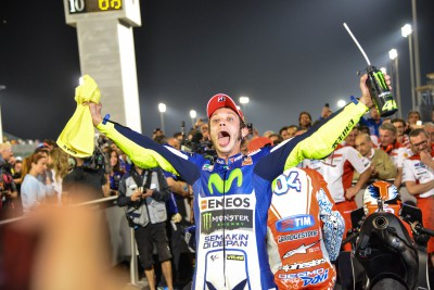 "Rossi wins season opening race with ""Best battle ever!"""