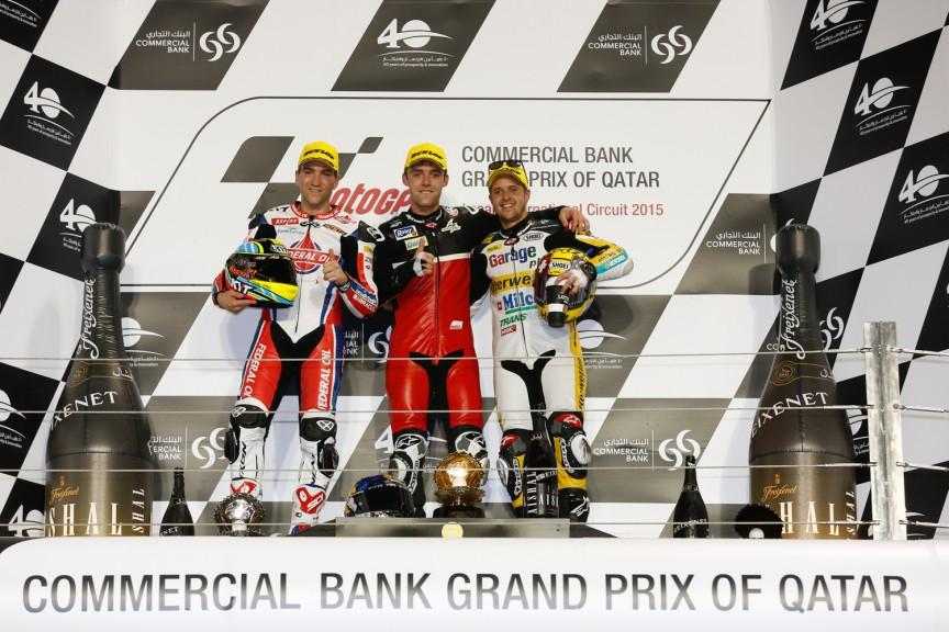 Moto3 Podium, Qatar RAC2