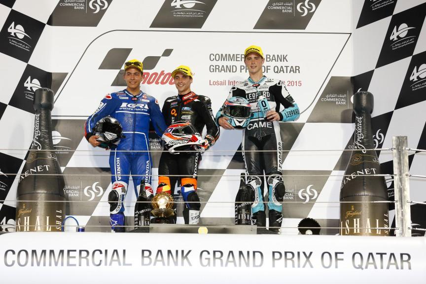 Moto3 Podium, Qatar RACE