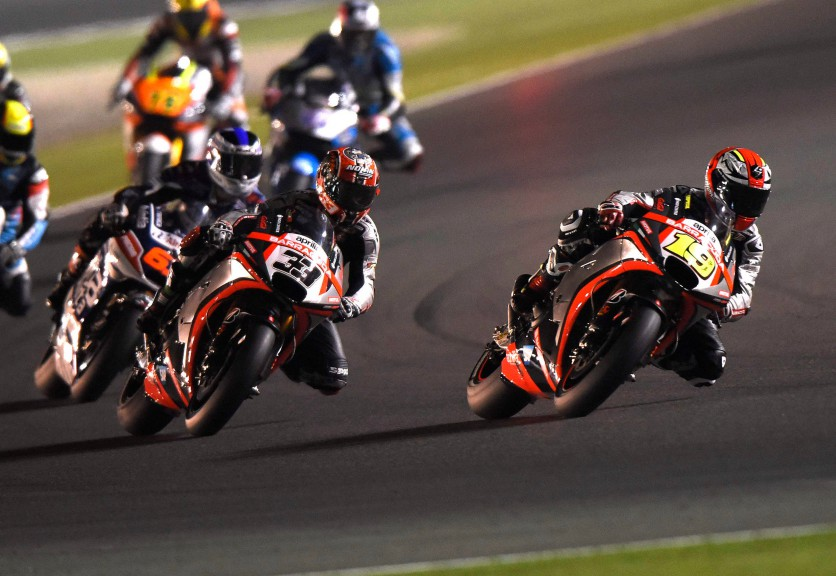 Bautista, Melandri, Aprilia Racing Team Gresini, Qatar RACE