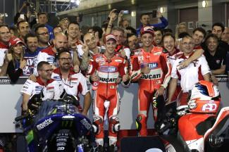Dovizioso, Iannone, Ducati Team, Qatar RACE