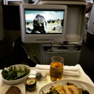 Flying to #AustinGP @motogp and watching a movie. Guess the
