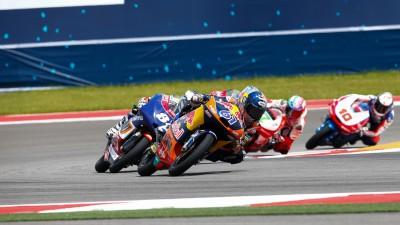 Quem terminou em 2º na Moto3™ no ano passado em Austin?