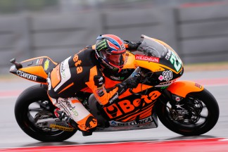 Lowes recovers from highside to head Moto2™FP1
