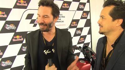 Keanu Reeves besucht #AmericasGP