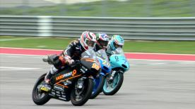 Some of the best Moto2 & Moto3 overtaking moves from the weekend at the Americas GP - the #ForeverForward overtaking league is currently being lead by Philipp Oettl in Moto3! The top Moto2 rider so far is Hafizh Syahrin.   1. Philipp Oettl - 27 points 2. Maria Herrera - 24 points 3. Enea Bastianini - 23 points 4. Jakub Kornfeil - 21 points 5. Efren Vazquez - 19 points