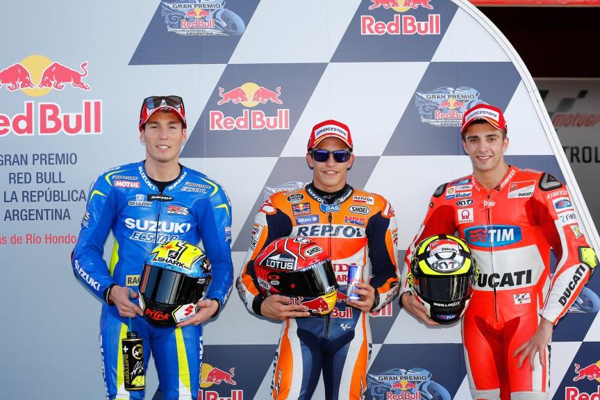 Espargaro, Marquez, Iannone, Team Suzuki Ecstar, Repsol Honda Team, Ducati Team, ARG Q2