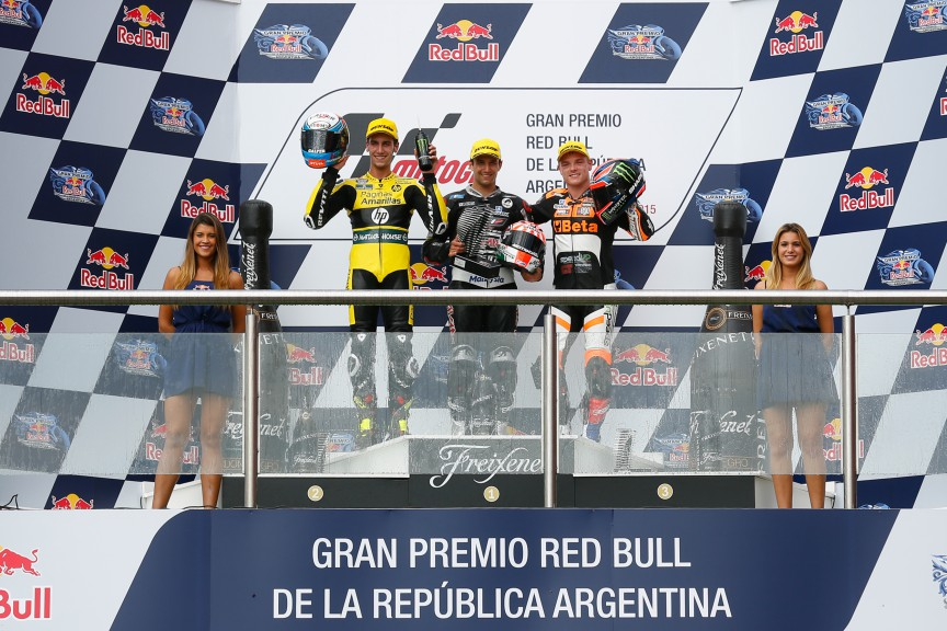 Rins, Zarco, Lowes, Paginas Amarillas HP 40, Ajo Motorsport, Speed Up Racing, ARG RACE
