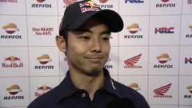 青山博一が11位争い中の最終ラップに転倒リタイヤを喫した決勝レースを振り返る。