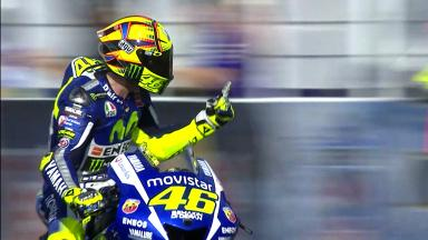 Rossi wins in Argentina after clashing with Marquez