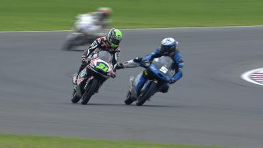 Fenati and Ajo clash in Moto3 warm-up