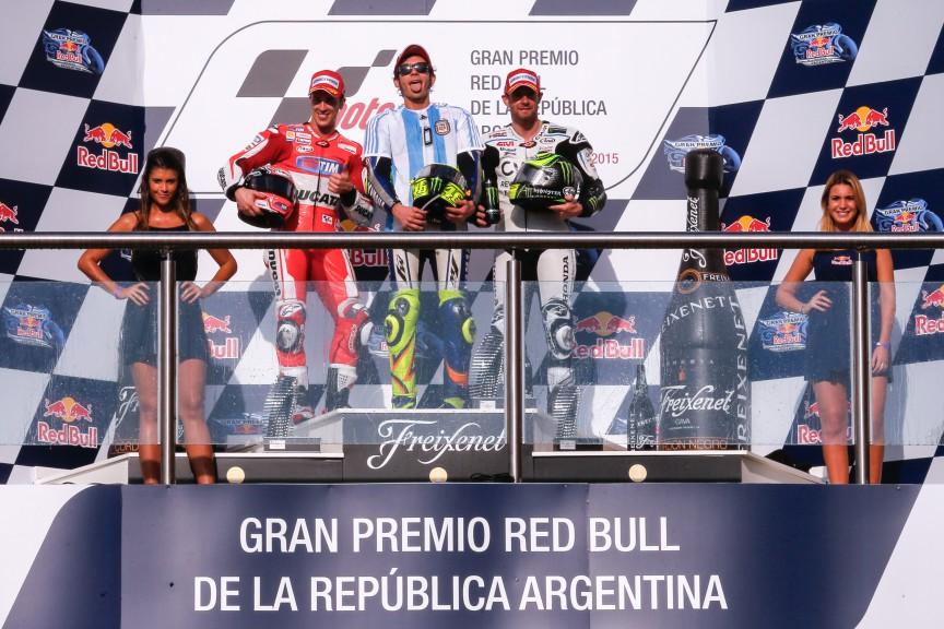 Dovizioso, Rossi, Crutchlow, Ducati Team, Movistar Yamaha MotoGP, CWM LCR Honda, ARG RACE