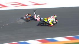 第3戦アルゼンチンGPのセッションと決勝レースから転倒シーンを選出。