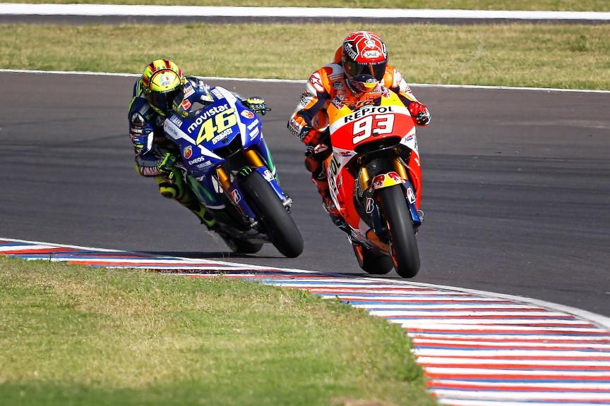 Valentino Rossi, Marc Marquez, Movistar Yamaha MotoGP, Repsol Honda Team