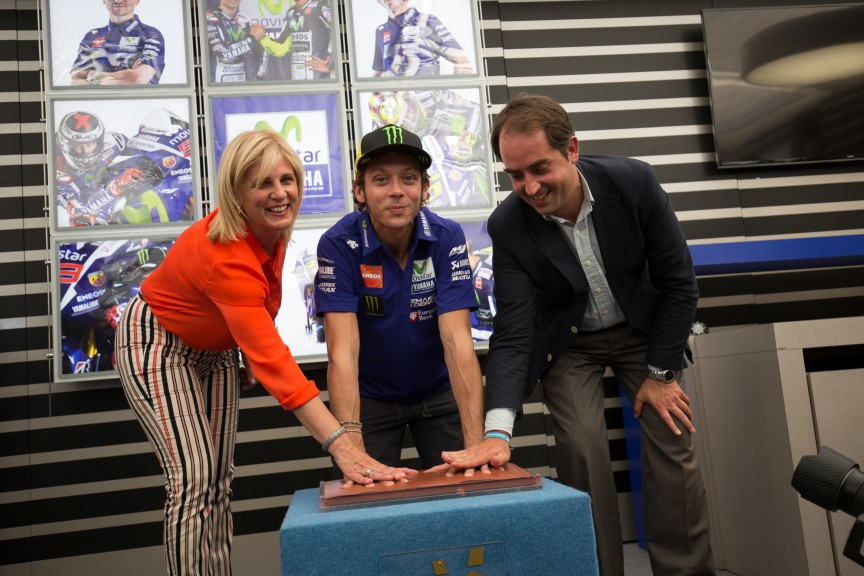 Valentino Rossi gets his star on the Jerez Walk of Fame