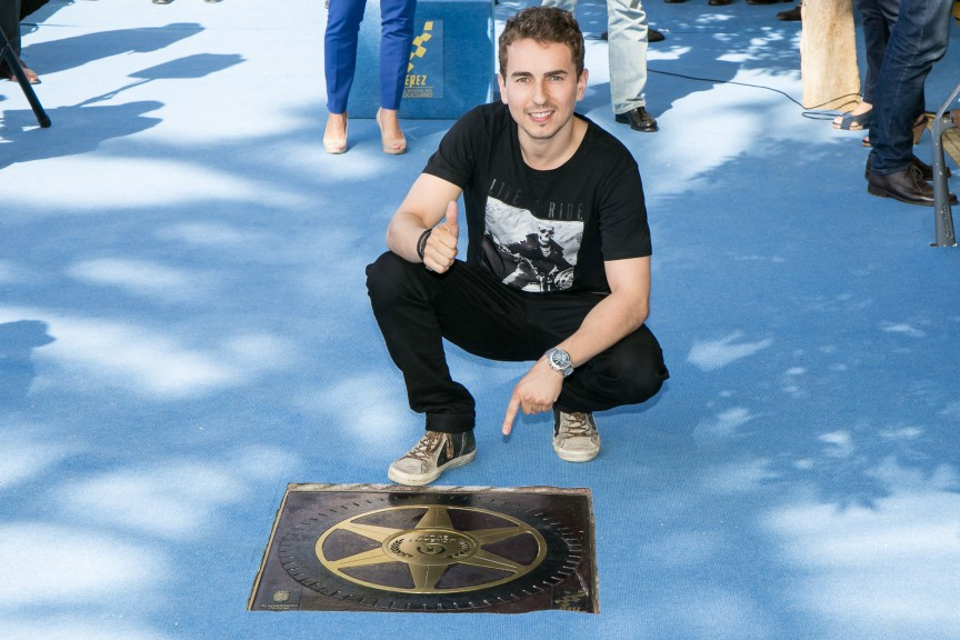 Jorge Lorenzo gets his star on the Jerez Walk of Fame