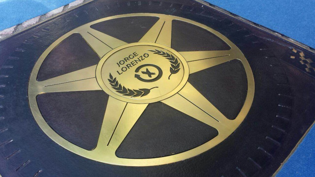 Jorge Lorenzo gets his star on the Jerez Walk of Fame