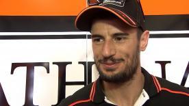 Simone Corsi, feliz por ser uno de los pilotos más rápidos de Moto2™ en la jornada del viernes.