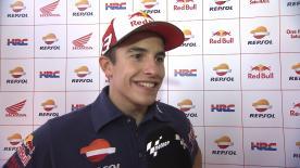 Marc Márquez conseguía el tercer mejor registro de MotoGP™ este viernes, a pesar de la lesión que arrastra en el dedo meñique de la mano izquierda.