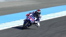 Der Movistar Yamaha Pilot Lorenzo führte sowohl im FP1, als auch im FP2 das Geschehen an.