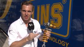 motogp.com reporter Dylan Grey explains how the rear shock works and how it affects the rear tyre.