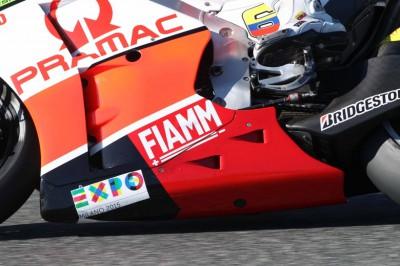 Il logo Expo Milano 2015 sulle moto Pramac Racing