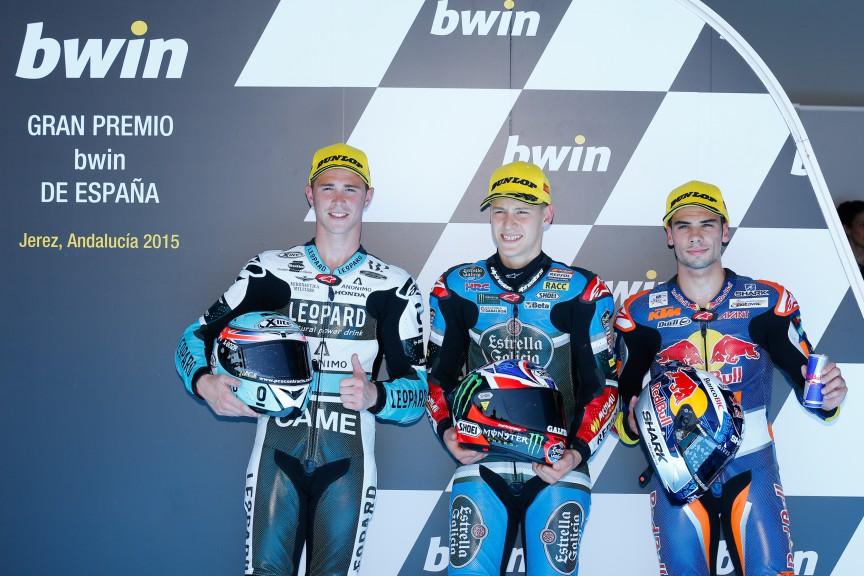 Kent, Quartararo, Oliveira, Leopard Racing, Estrella Galicia 0,0, Red Bull KTM Ajo, Jerez QP