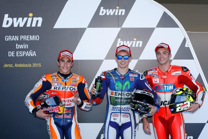 Marquez, Lorenzo, Iannone, Repsol Honda Team, Movistar Yamaha MotoGP, Ducati Team, Jerez Q2
