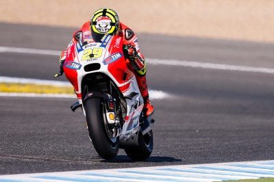 Iannone fastest in FP4 as Marquez crashes