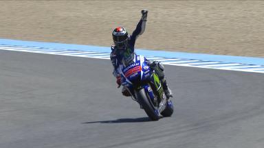 Lorenzo se hace con la pole y el récord en Jerez