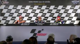 The fastest MotoGP riders from today's race talk to the press about the results.