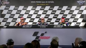 Os pilotos mais rápidos da corrida de hoje em Jerez de la Frontera falam sobre os resultados na conferência de imprensa.