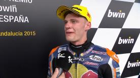Brad Binder was glad to be in third position after suffered big problems with the tyres.