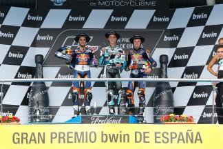 Oliveira, Kent, Binder, Red Bull KTM Ajo, Leopard Racing, Jerez RACE